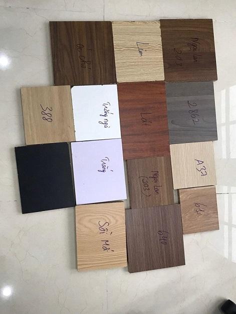 Bảng mẫu màu gỗ công nghiệp melamine